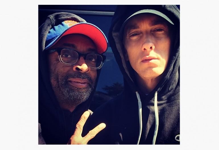 "Spike Lee With Eminem On Set Of ""Headlights"" Video Shoot"