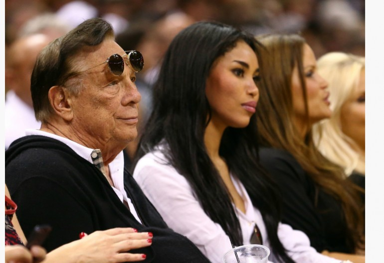 Donald Sterling With Girlfriend V Stiviano