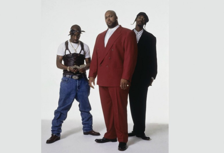 2 Pac, Suge Knight, Snoop Doggy Dogg