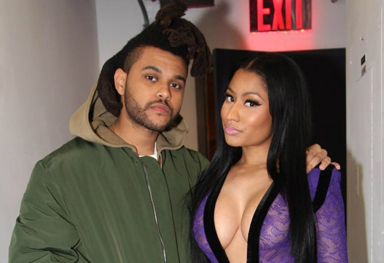The Weeknd With Nicki Minaj Backstage at Saturday Night Live