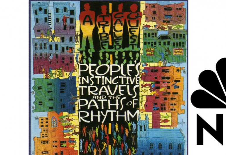 """A Tribe Called Quest's """"Peoples' Instinctive Travels And The Paths of Rhythm"""" From Jive/RCA Records With NBC logo"""