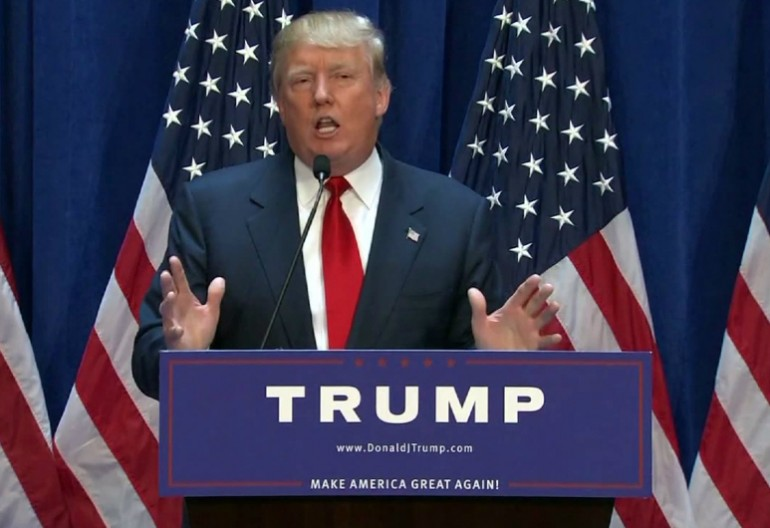 Donald Trump At Announcement Of Presidential Candidacy
