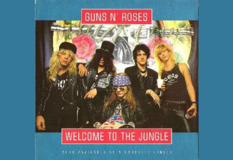 "Guns N Roses ""Welcome To The Jungle"" Geffen Records"